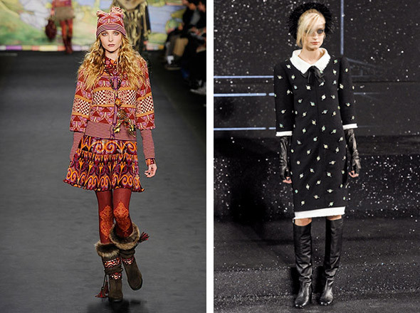 Anna Sui FW 2010 и Chanel FW 2011. Изображение №96.