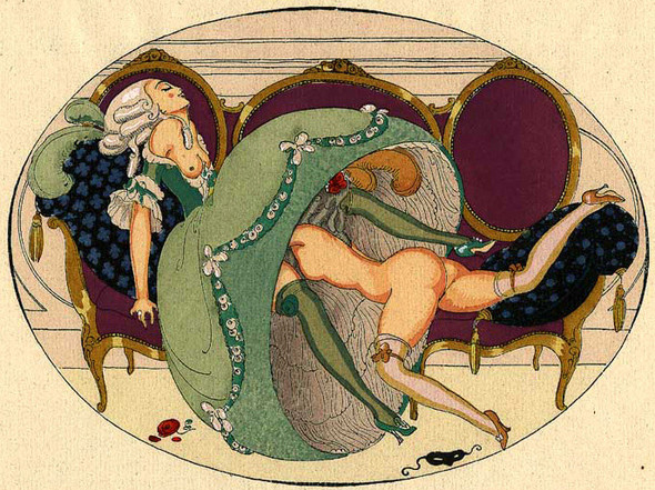 Gerda Wegener, лесбийская эротика в миниатюре. Изображение № 7.
