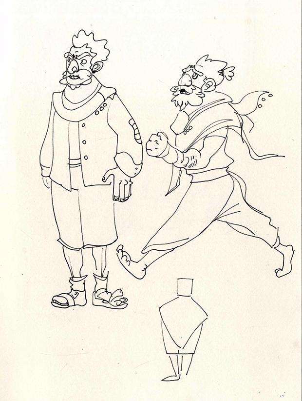 Анимация: бродяга спасает пса встимпанковском городе. Изображение № 6.