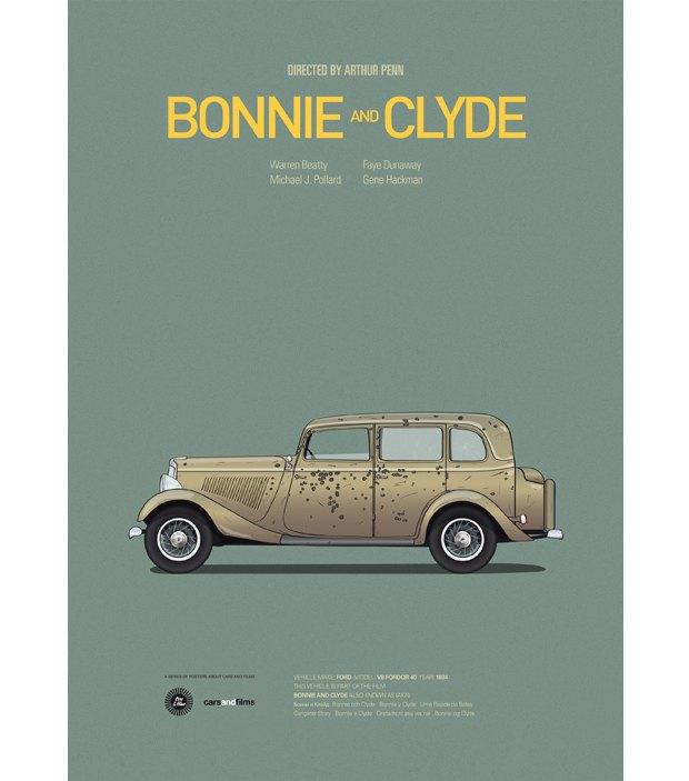 Хиты Голливуда представлены в постерах с культовыми авто . Изображение № 4.