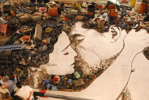 Вик Мунис-бразильский художник, фотограф и представитель лэнд-арта. Изображение № 2.
