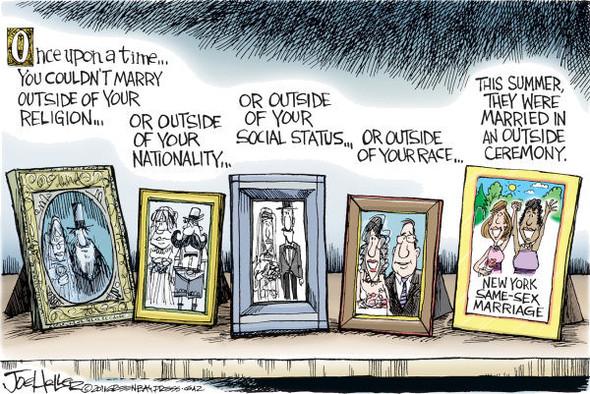 Нью ЛГБТ-Йорк: художники-карикатуристы о легализации однополых браков. Изображение № 2.