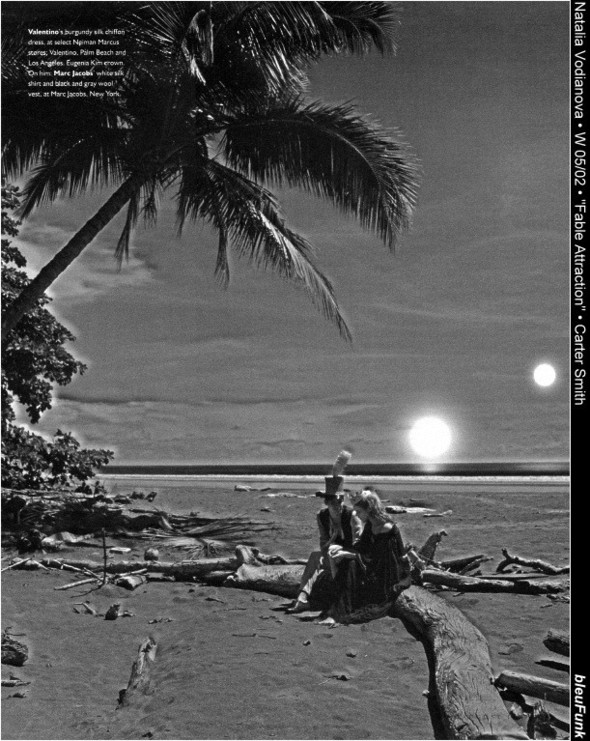 Архивная съёмка: Наталья Водянова для W, 2002. Изображение № 3.