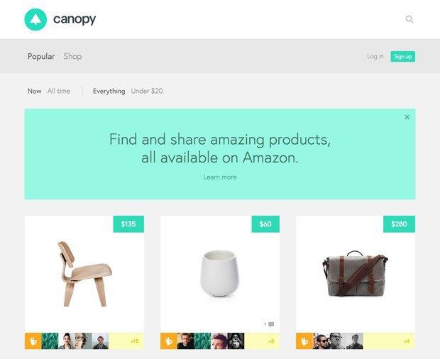 Бывшие дизайнеры Google создали сайт для шоппинга на Amazon. Изображение № 1.