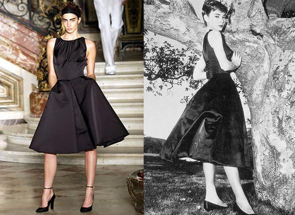 """Givenchy осень 2003 couture/Одри Хепберн в к/ф """"Сабрина"""". Изображение № 17."""