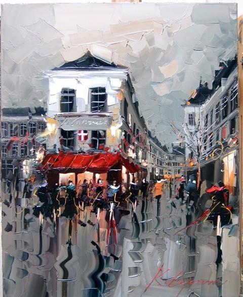 Красные зонтики художника Kal Gajoum. Изображение № 8.