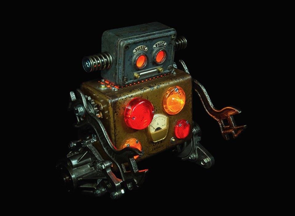 Фото: забавные роботы из промышленного мусора . Изображение № 4.