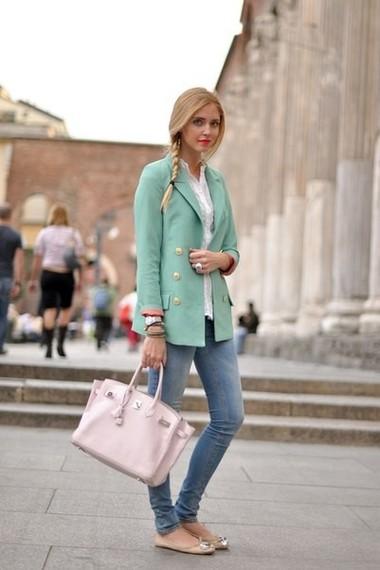 Mrs.Kati — Сумка Cristelle & Co, Джинсы Китай, Балетки New Yorker, Пиджак New Look, Блуза H & M