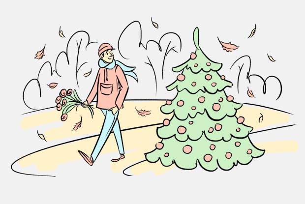 Почему ёлки в Петербурге появились так рано? — Есть вопрос на Look At Me