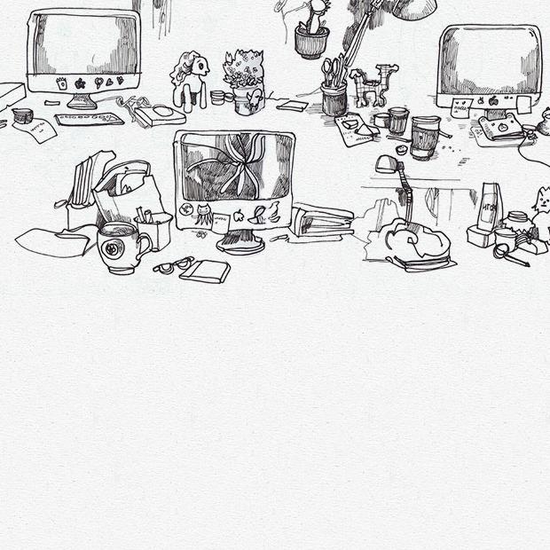 Московские офисы в рисунках Лизы Смирновой — Клуб рисовальщиков translation missing: ru.desktop.posts.titles.on The Village