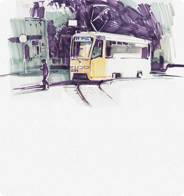 Клуб рисовальщиков: Московские трамваи — Клуб рисовальщиков на The Village