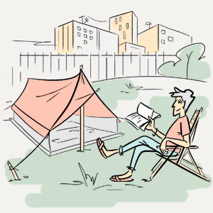 Можно ли жить в палатке в черте города? — Есть вопрос на The Village
