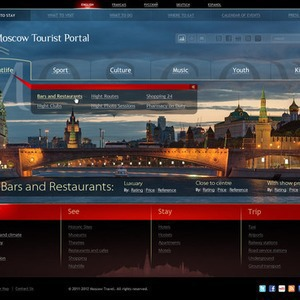 Московские власти представили три варианта сайта для туристов