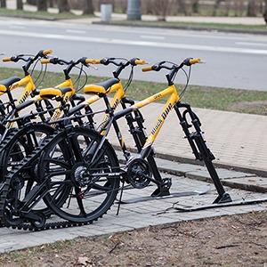 Фоторепортаж: Зимние велосипеды в «Сокольниках» — Фоторепортаж на The Village