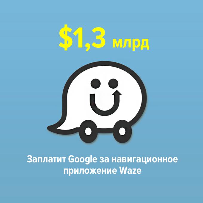 ...заплатит Google за навигационное приложение Waze — Цифра дня translation missing: ru.desktop.posts.titles.on The Village