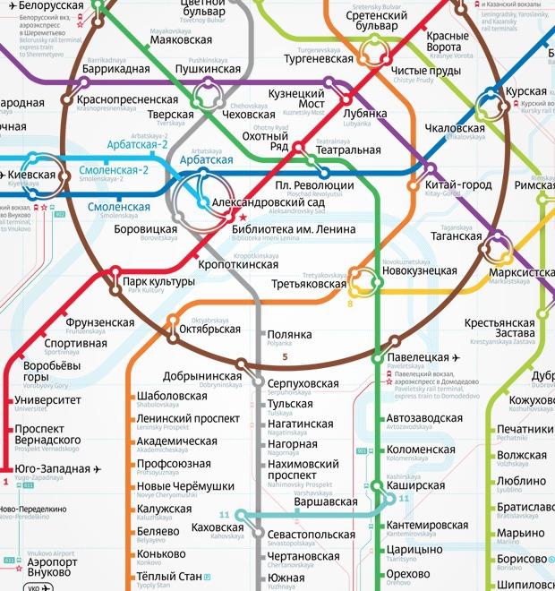 альтернативную схему метро
