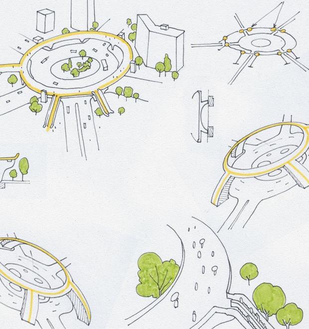 Идеи для города: Круглый пешеходный мост в Шанхае — Иностранный опыт на The Village