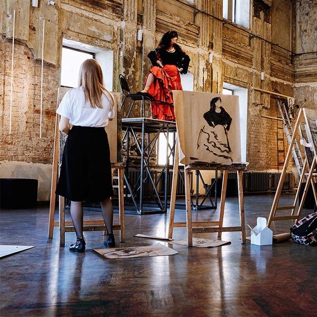 Марафон рисовальщиков в FUTURO — Фоторепортаж на The Village
