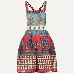 Платье Band of Gypsies, свитшот A. P. C., топ H&M — Что надеть на The Village