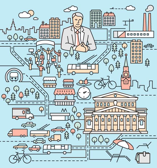 6 кадров: Что предлагают кандидаты вмэры Москвы — Город на The Village