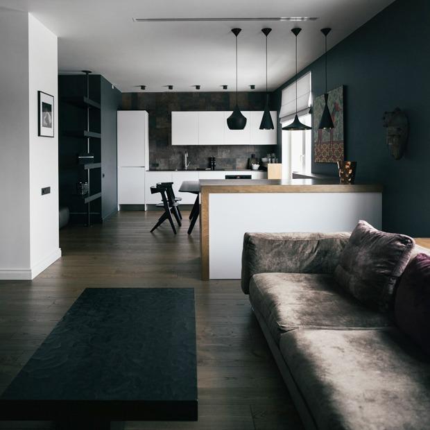 Двухкомнатная квартира с современным интерьером у Смольного  — Квартира недели на Look At Me