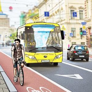 Перестройка: велодорожки на Гороховой и набережной Фонтанки — Перестройка на The Village