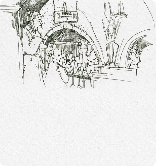 Клуб рисовальщиков: Метро — Клуб рисовальщиков на The Village