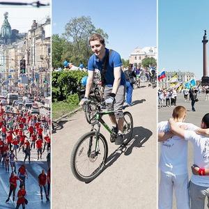 Спорт в городе: Пробег роллеров, велопарад и «Русская пробежка» — Велосипеды на The Village