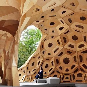 Дизайн от природы: Стекло-паутина и павильон — морской еж в Германии
