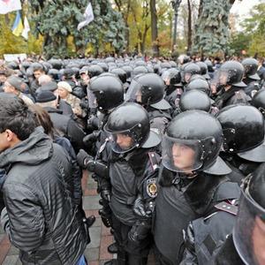 Copwatch: Действия милиции на акции «Вперёд!» возле Верховной рады — Люди в городе на The Village