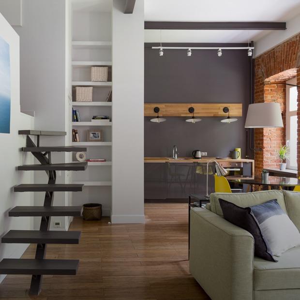 Квартира с мезонином на Смоленском бульваре — Квартира недели на The Village