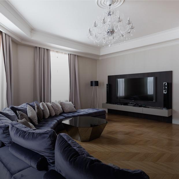 Большая квартира со светской гостиной в Толстовском доме (Петербург) — Квартира недели на Look At Me