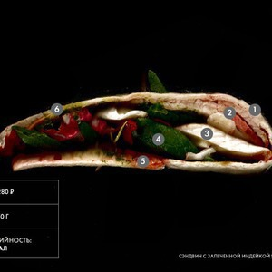 Составные части: Сэндвич с запеченной индейкой и сыром бри из «Филиала»