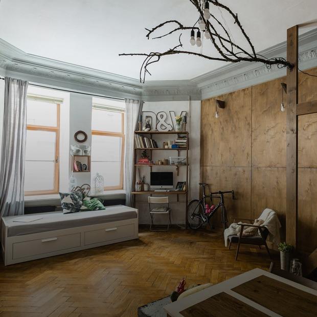 Квартира-студия со вторым ярусом и разнообразным декором (Петербург)  — Квартира недели на The Village