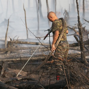 Как тушат лесные пожары в Тверской области — Галереи на The Village