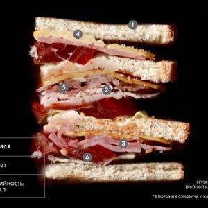Составные части: тройной клаб-сэндвич из Beverly Hills Diner — Составные части на The Village