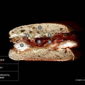Составные части: Сэндвич «Куриный БЛТ» из Friday's — Составные части на The Village