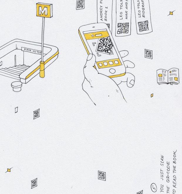 Идеи для города: Электронная библиотека в метро Бухареста — Иностранный опыт на Look At Me