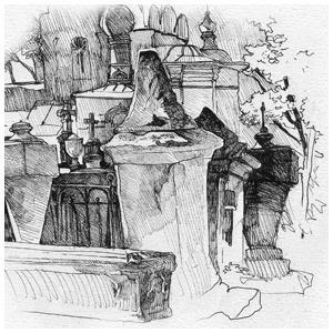Старое Донское кладбище — Клуб рисовальщиков на The Village