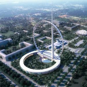 В Москве хотят построить самое высокое в мире колесо ... Колесо Обозрения Москва Парк Горького
