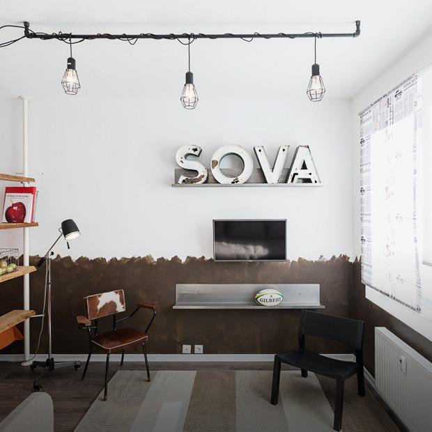 Компактная квартира в Девяткино с барной стойкой и винтажными элементами  — Квартира недели на The Village