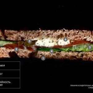 Составные части: Сэндвич с сёмгой из «Волконского» — Составные части на The Village