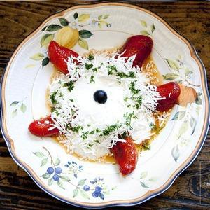 Рецепты шефов: Запечённый болгарский перец с домашним йогуртом — Рецепты шефов на The Village