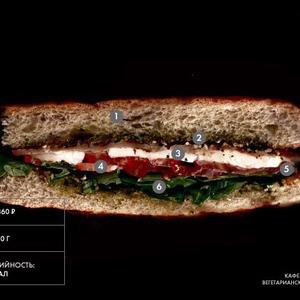Составные части: Вегетарианский сэндвич из кафе Starики bar — Составные части на The Village