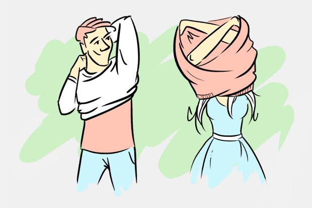 Почему мужчины и женщины по-разному раздеваются?