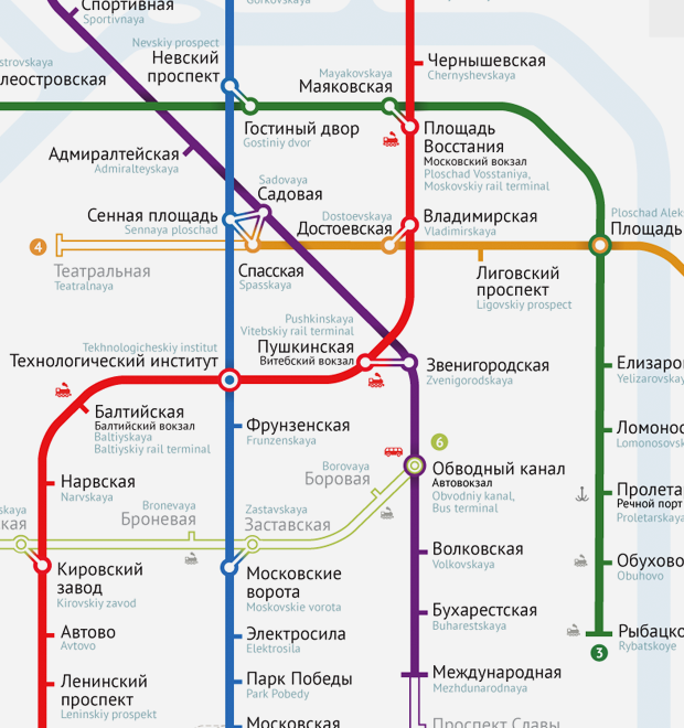 схем петербургского метро