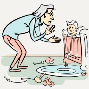 Усы и дети: Виктор Фещенко пробует себя в роли бебиситтера — Эксперимент на The Village