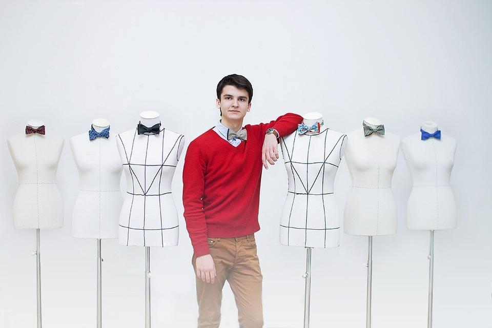 Эффект бабочки: Как одиннадцатиклассник стал шить мужские аксессуары — Свое место на Look At Me