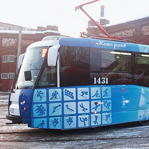 Олимпийский трамвай курсирует по городу — Город на Look At Me