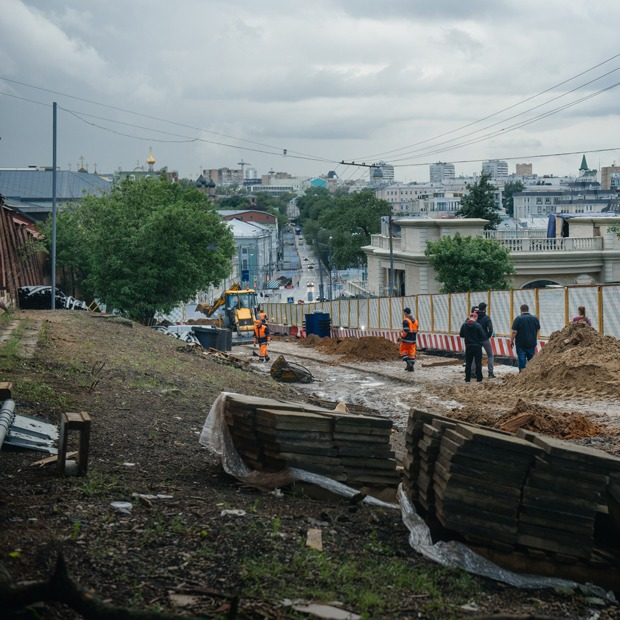Любовь к самокопанию: Масштабные ремонтные работы в центре Москвы — Фоторепортаж на The Village